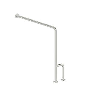 Foto - Boden-Wand-Stützgriff, Edelstahl fingergrip poliert, Ausführung rechts - Artikel L1052112 - Serie Funktion von Lehnen