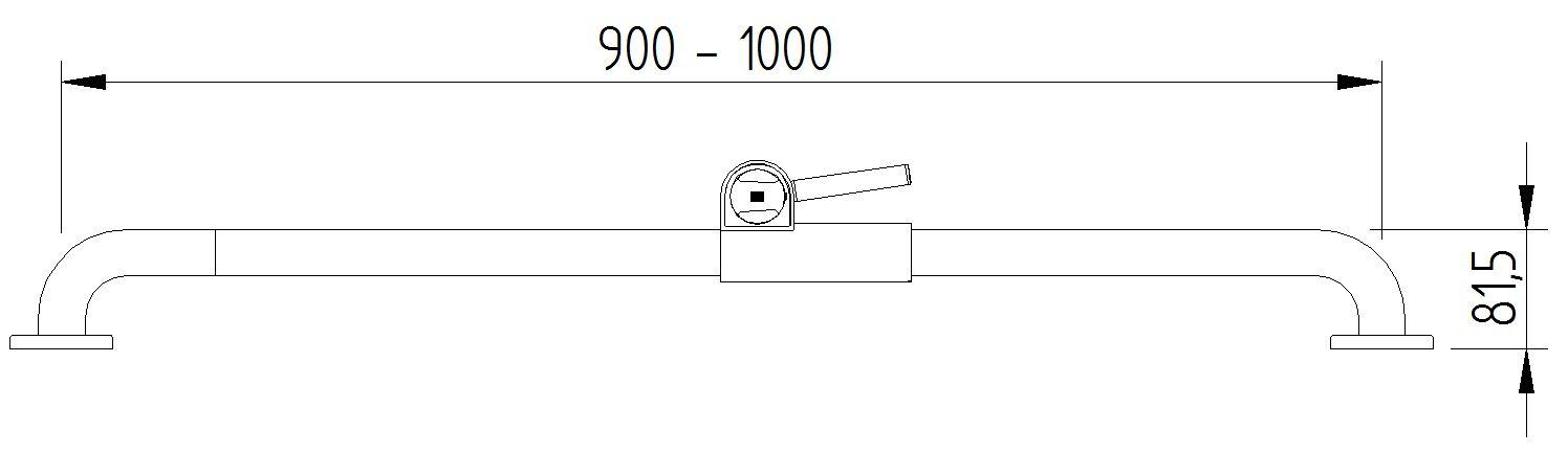 Skizze - Brausestange mit Brausehalter - Serie Funktion von Lehnen