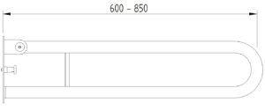 Skizze - Klappgriff in Bügelform für Montageplatte - Serie Funktion von Lehnen