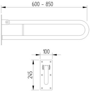 Skizze - Klappgriff in Bügelform - Serie Funktion von Lehnen