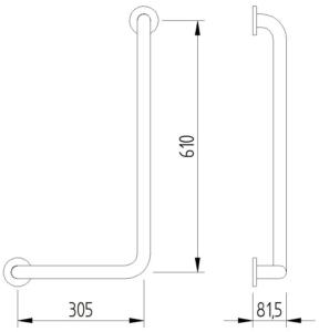 Funktion - Winkelgriff 90° 305x610 - Skizze