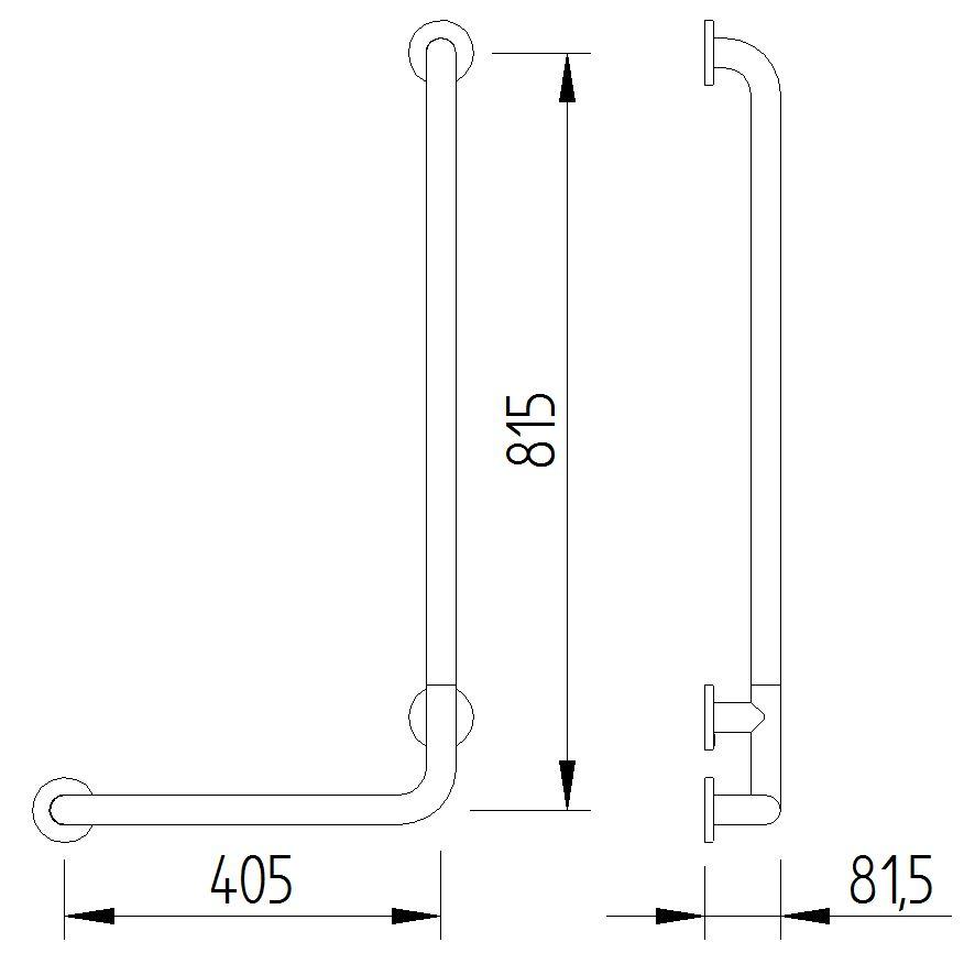 Funktion - Winkelgriff 90° - Skizze