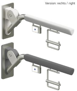 Evolution - Klappgriff, weiß oder anthrazit gepolstert mit Funkauslösung und Papierrollenhalter