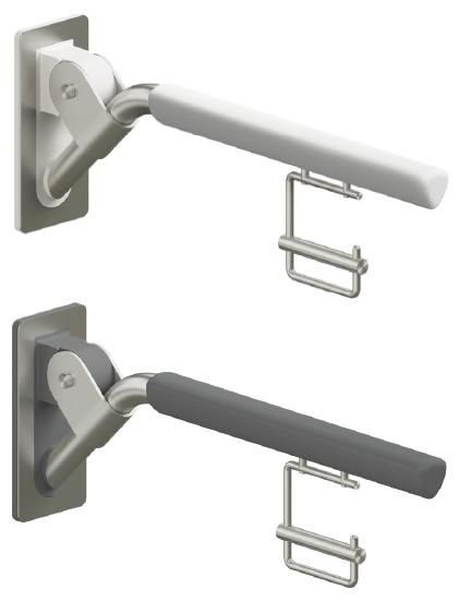 Evolution - Klappgriff in reinweiß oder anthrazit mit Papierrollenhalter