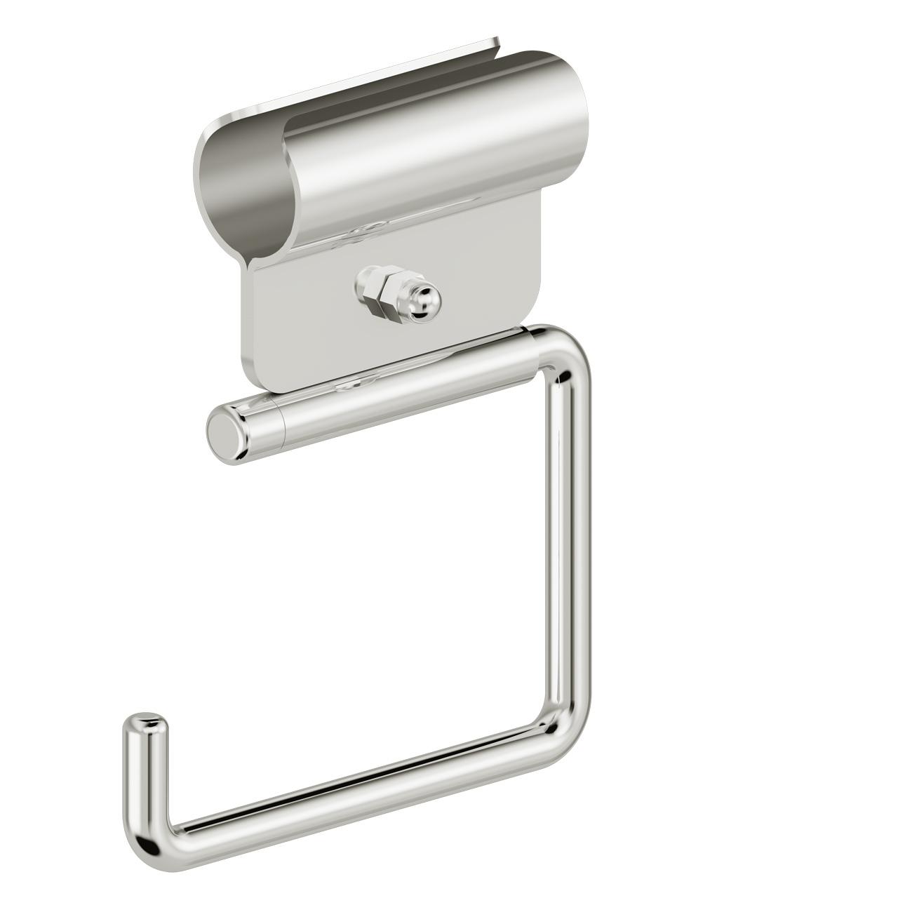 Foto - WC-Papierrollenhalter ohne Blattstopper, Klemmbefestigung, Edelstahl glatt poliert - Artikel L1103100 - Serie Funktion von Lehnen