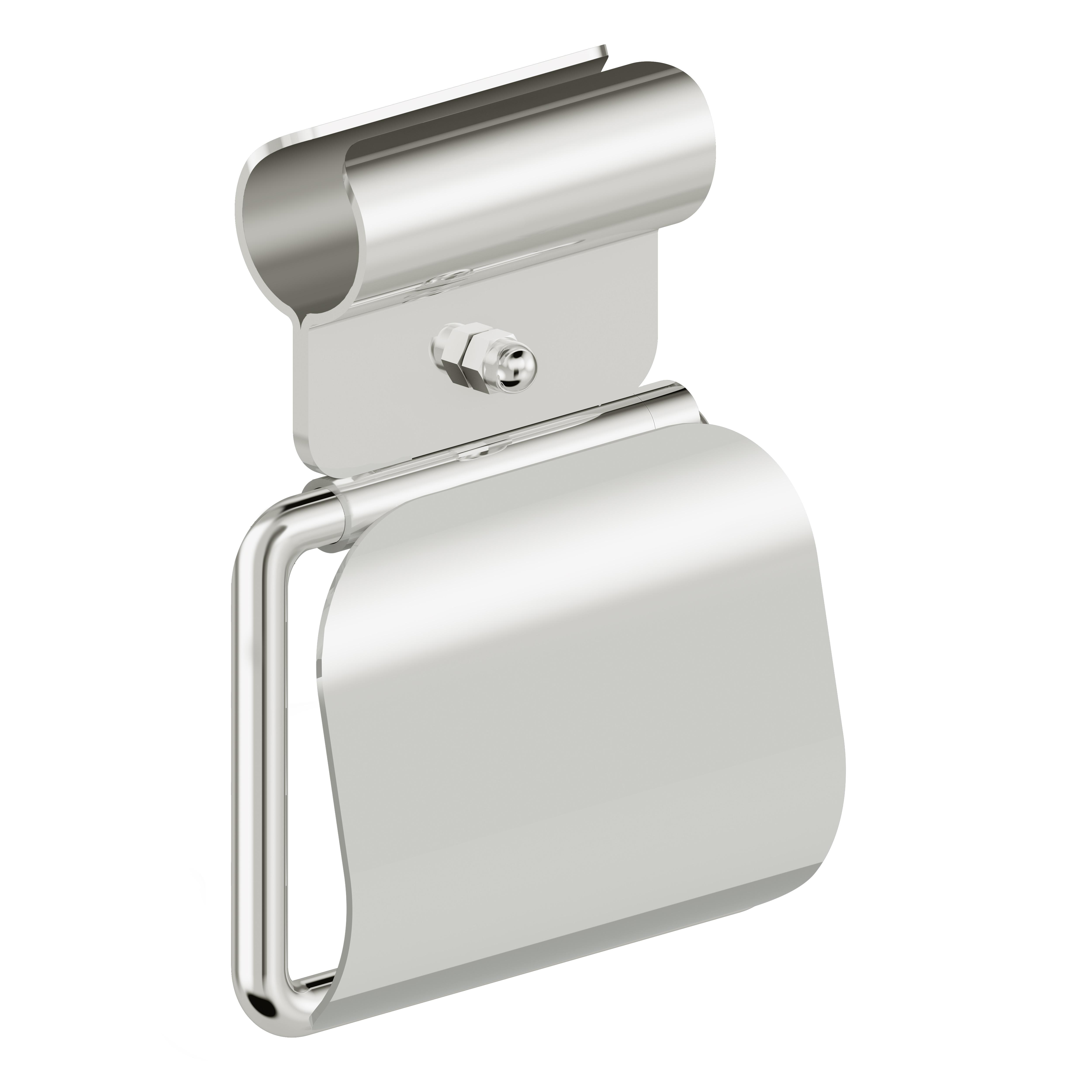 Foto - WC-Papierrollenhalter mit Blattstopper, Klemmbefestigung, Edelstahl glatt poliert, rechte Ausführung - Artikel L1103210 - Serie Funktion von Lehnen