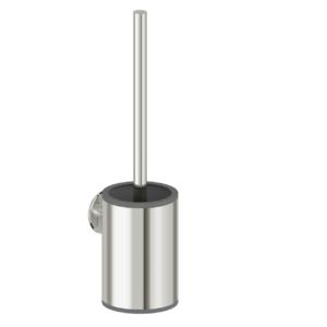 Foto - WC-Bürstenhalter mit Bürste, Edelstahl glatt poliert - Artikel L1110100 - Serie Funktion von LehnenWC-Reserverollenhalter für eine Rolle, Edelstahl glatt poliert - Artikel L1105200 - Serie Funktion von Lehnen