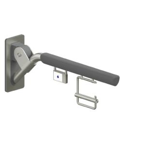 Foto - Klappgriff anthrazit gepolstert mit Funkauslöser und Papierrollenhalter, Ausladung 700 mm - Artikel 30447106 - Serie Evolution von Lehnen