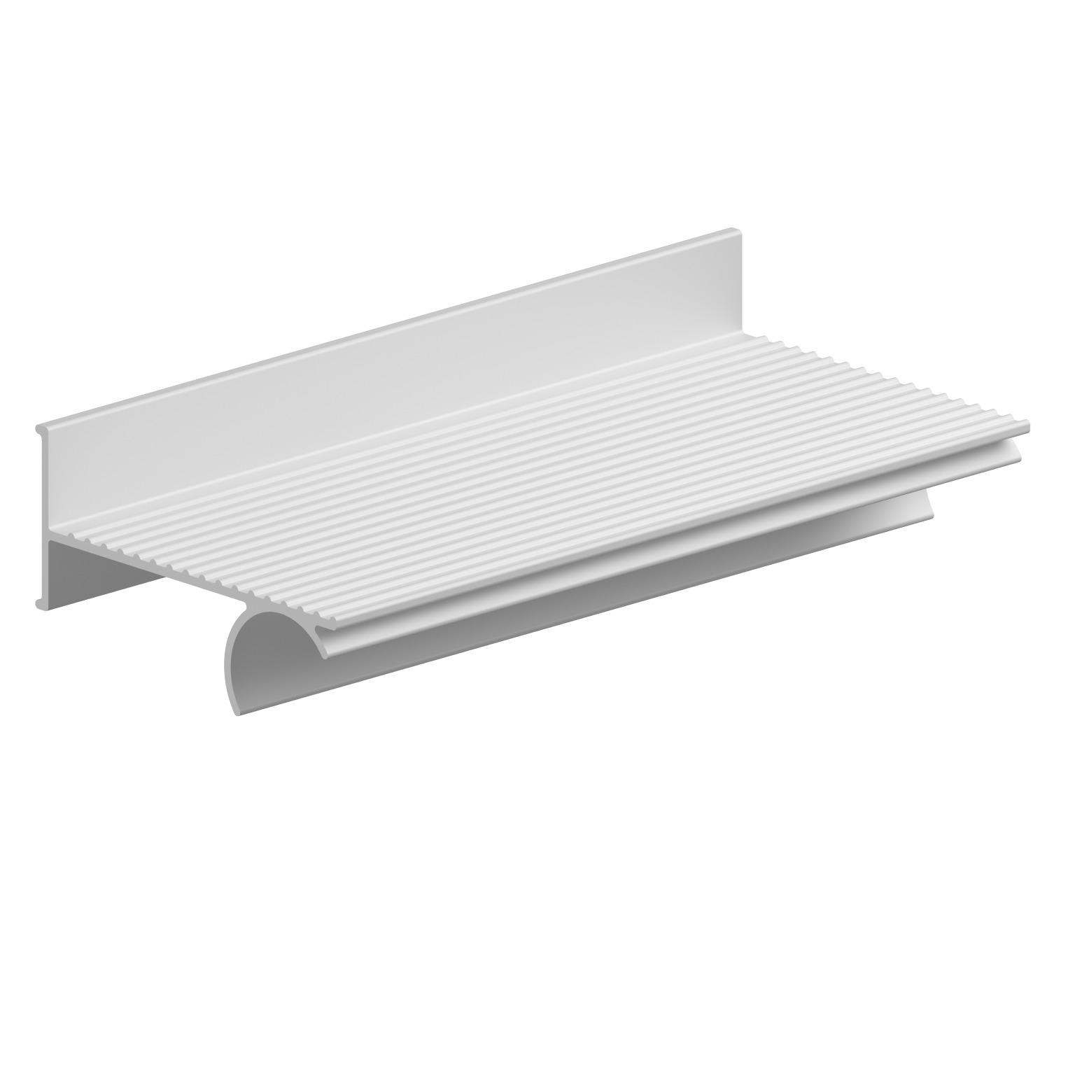 Foto - Seifenablage zum Auflegen auf einen Duschhandlauf, Aluminium eloxiert matt - Artikel L31101000 - Serie Evolution von Lehnen