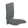 Foto - Duschsitz mit Rückenlehne, anthrazit gepolstert, Wandmontage - Artikel L32005006 - Serie Evolution von Lehnen
