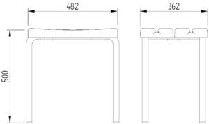 Skizze - Duschhocker - Serie Funktion von Lehnen