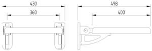 Concept Pro - Duschsitz - Skizze