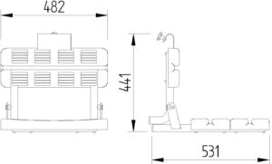 Skizze - Duschsitz zum Einhängen, klappbar - Serie Funktion von Lehnen