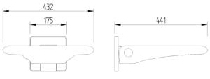 Skizze Duschsitz Wandmontage Evolution