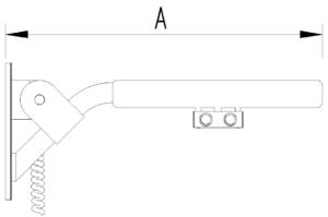 Skizze - Klappgriff mit zwei Elektro-Tastern - Serie Evolution von Lehnen