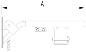 Skizze Klappgriff mit 2 Elektrotastern inkl. PRH Evolution