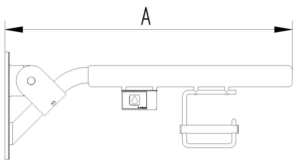 Skizze Klappgriff mit Funkauslöser (und Papierrollenhalter) Evolution
