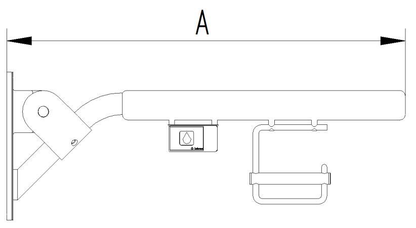 Skizze - Klappgriff mit Funkauslöser und Papierrollenhalter - Serie Evolution von Lehnen