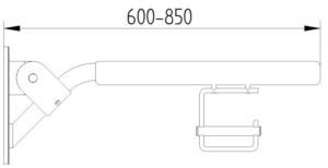 Skizze - Klappgriff gepolstert mit Papierrollenhalter - Serie Evolution von Lehnen