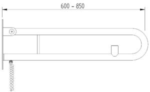 Skizze - Klappgriff in Bügelform mit einem Elektro-Taster - Serie Funktion von Lehnen
