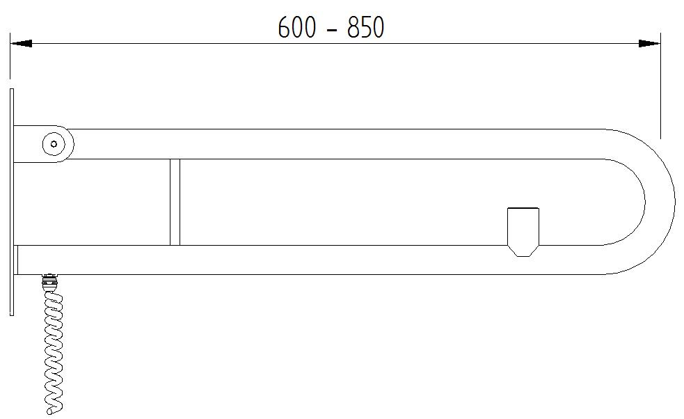 Funktion - Klappgriff mit 1 E_Taster - Skizze