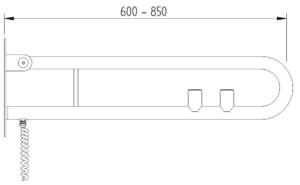 Skizze - Klappgriff in Bügelform mit zwei Elektro-Tastern - Serie Funktion von Lehnen