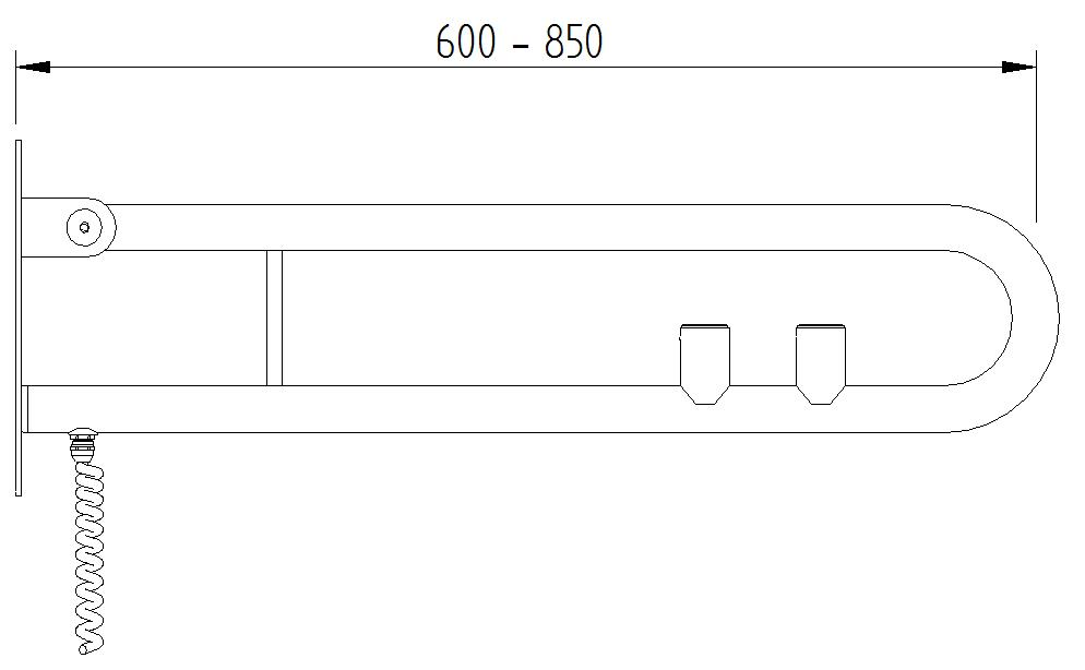 Funktion - Klappgriff mit 2 E_Taster - Skizze