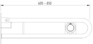 Skizze - Klappgriff in Bügelform mit Pneumatikauslöser - Serie Funktion von Lehnen