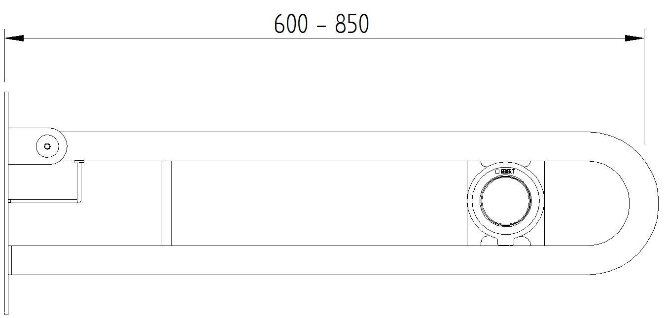Funktion - Klappgriffe mit Pneumatikauslösung - Skizze