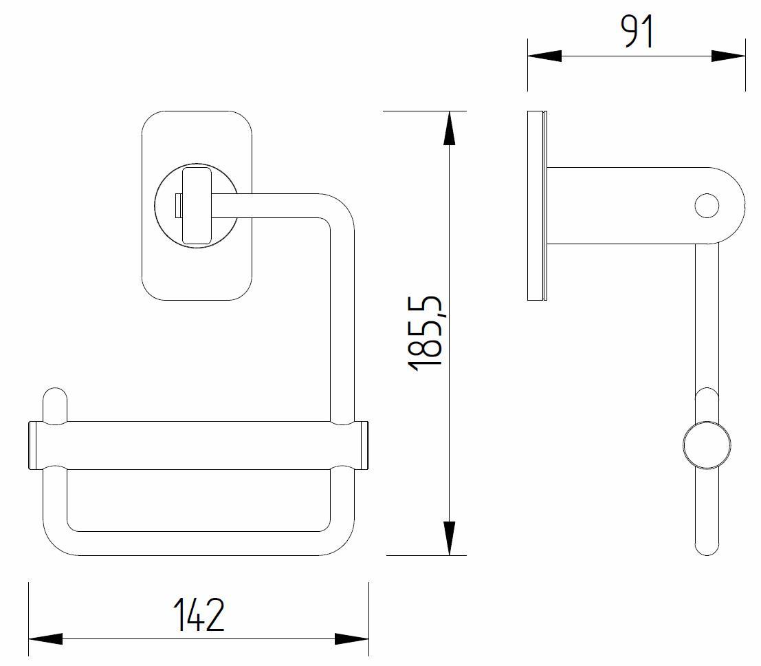 Skizze - Papierrollenhalter mit Blattstoppfunktion - Serie Evolution von Lehnen