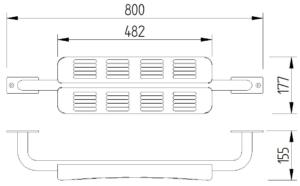 Skizze - WC-Rückenstütze - Serie Funktion von Lehnen