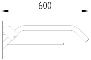 Evolution - Stützgriff mit Handtuchhalter - Skizze