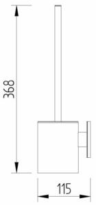 Skizze - WC-Bürstenhalter - Serie Evolution von Lehnen