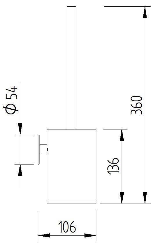 Funktion - WC Bürstenhalter - Skizze