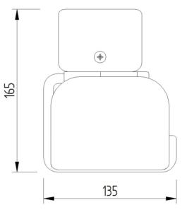 Funktion - WC-Papierrollenhalter anklemmbar mit Blattstopper - Skizze