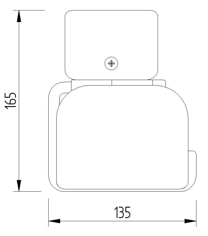Skizze - WC-Papierrollenhalter mit Blattstopper mit Klemmbefestigung - Serie Funktion von Lehnen