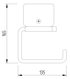 Funktion - WC-Papierrollenhalter anklemmbar ohne Blattstopper - Skizze