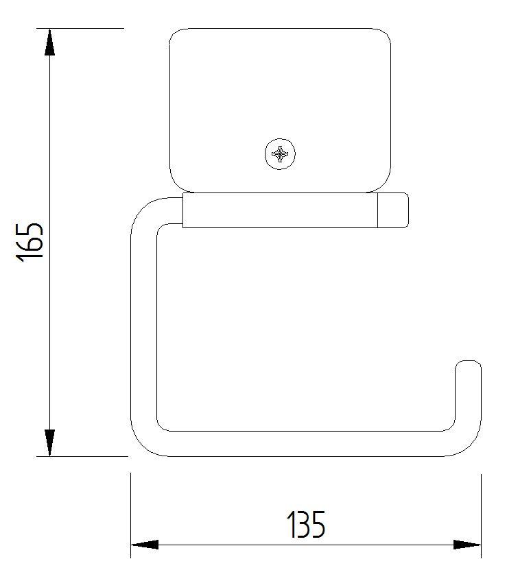 Skizze - WC-Papierrollenhalter ohne Blattstopper mit Klemmbefestigung - Serie Funktion von Lehnen