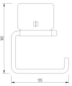 Skizze - WC-Papierrollenhalter ohne Blattstopper, Klemmbefestigung - Serie Funktion von Lehnen