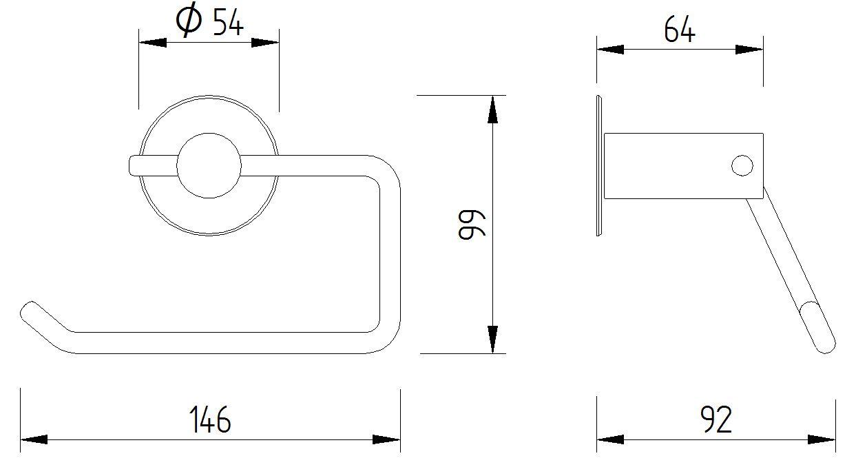 Funktion - WC Papierrollenhalter - Skizze
