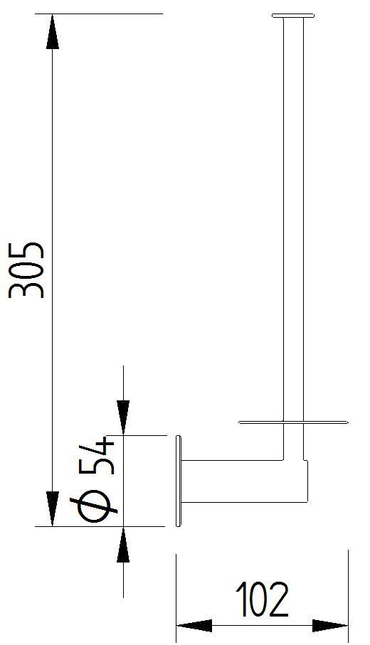 Funktion - WC-Reserverollenhalter für 2 Rollen - Skizze