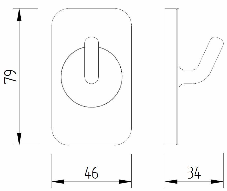 Skizze - Wandhaken - Serie Evolution von Lehnen